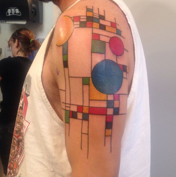 Frank Lloyd Wright inspired tattoo. Very happy with how it turned out