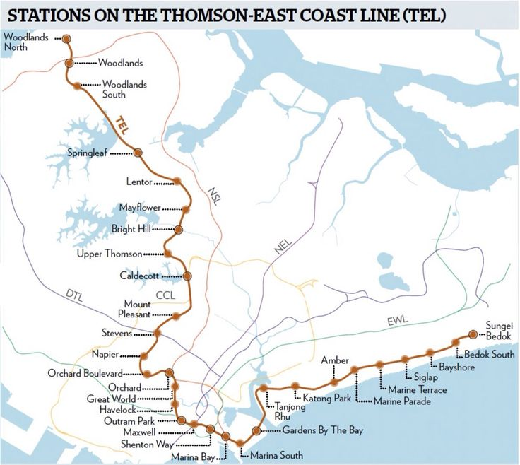 Thomson East Coast Line | MRT Singapore | Pinterest