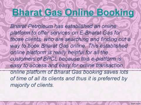 If you are the consumer of Bharat gas and want the booking process complete information, so here you will watch out the whole details of the booking process of bharat gas and also the online booking method all niceties and services detail. http://www.bharatgasbooking.in