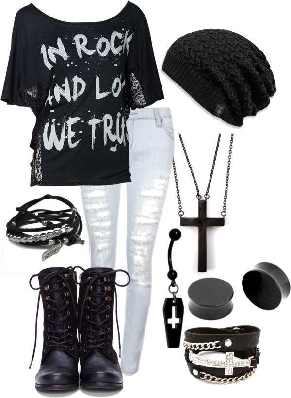 Grunge / Rock Winter Outfits für Frauen