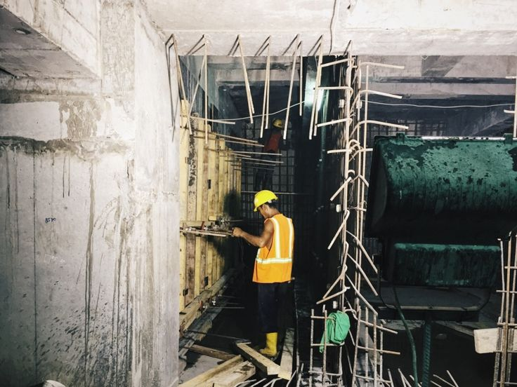Working alone. Formwork installation on STP Room B6. | adelyss | VSCO