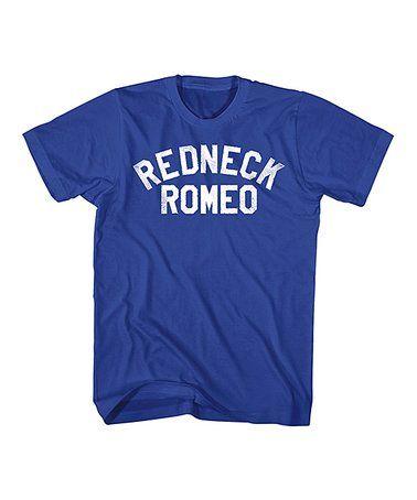 Royal 'Redneck Romeo' Tee - Men's Regular & Big #zulily #zulilyfinds