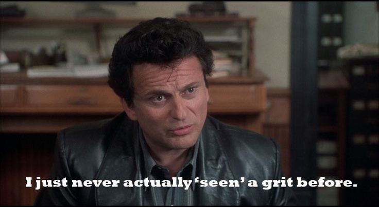 funny lawyer quote - my cousin vinny - never actually 'seen' a grit before