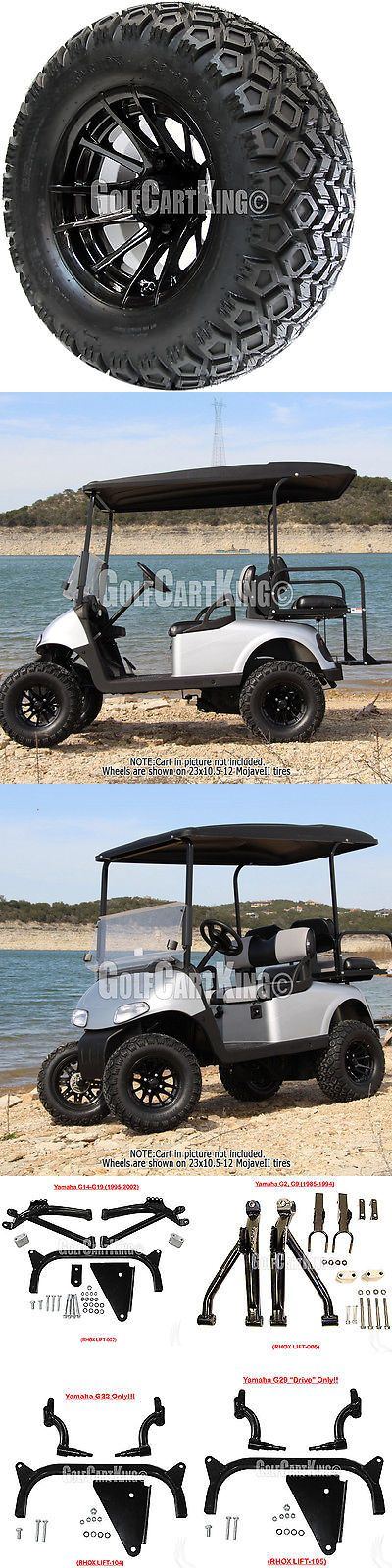 Other Golf Clothing 158939: 12 Rhox Rx104 Wheel With Tire Combo And Yamaha Golf Cart Lift Kit -> BUY IT NOW ONLY: $690 on eBay!
