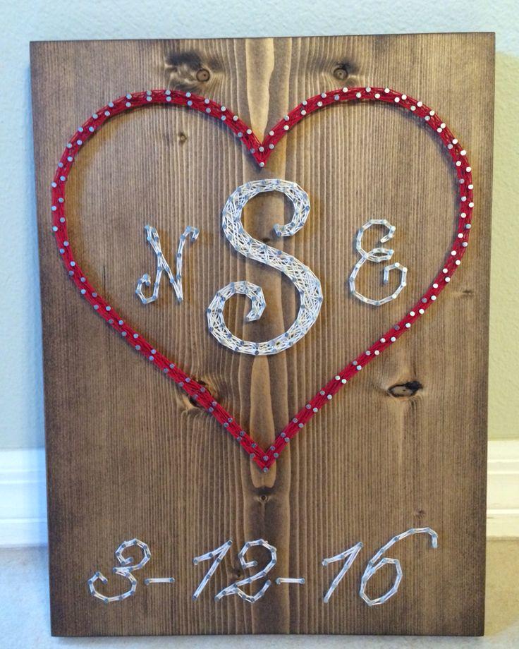 Best 25 wedding string art ideas on pinterest string art pin custom weddinganniversary string art sign initialsmonogram art heart and prinsesfo Gallery