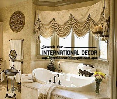 Modern pinch pleated curtains for bathroom window covering | Curtain Designs