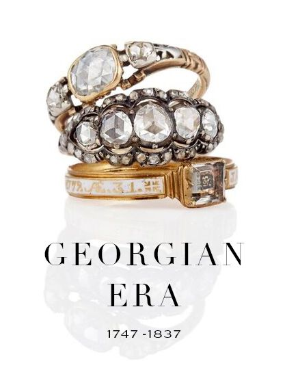 Georgian settings were always made to accommodate the stones, not the other way around. So no two Georgian engagement rings are ever alike. Learn more about rings made and worn during the time of Marie Antoinette.
