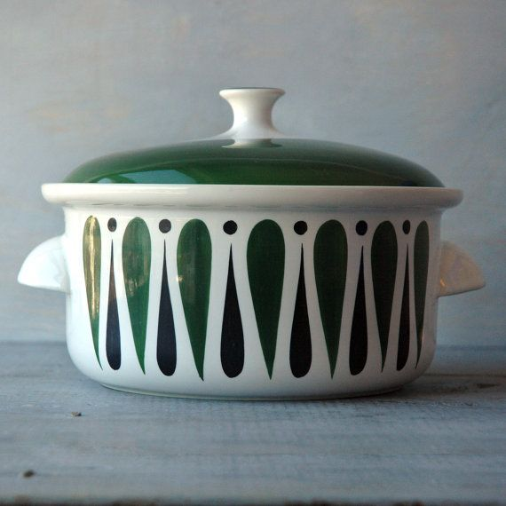 A rare Comedia style Casserole Dish designed by Stig Lindberg in the 1950s for…