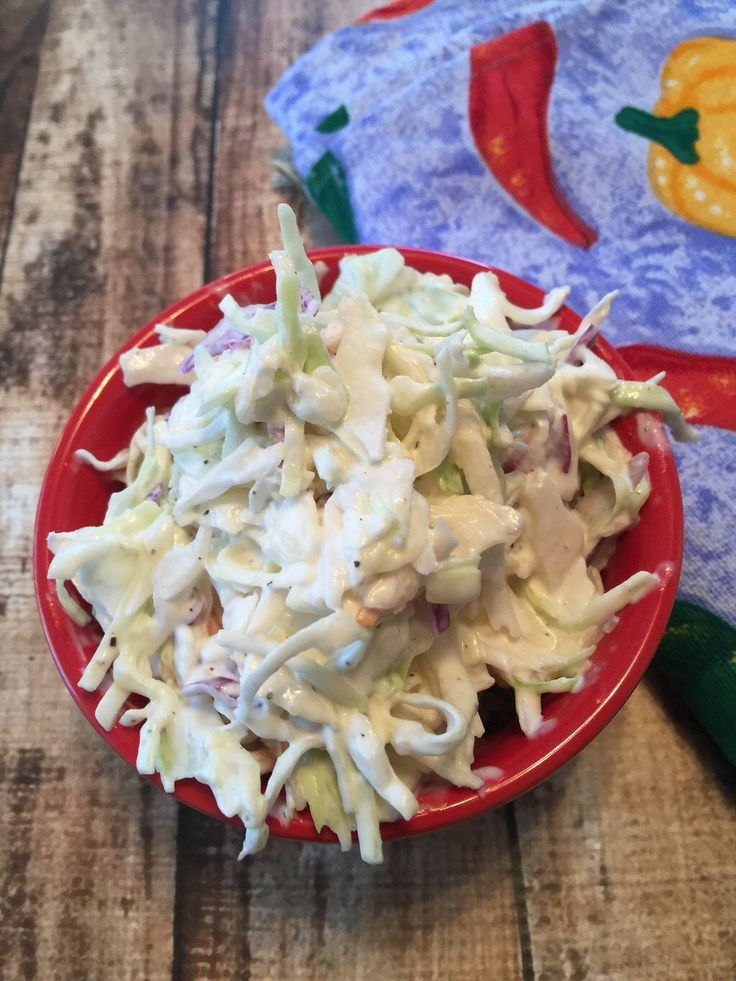 Easy Low Carb Coleslaw