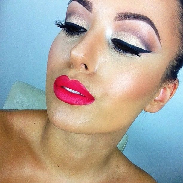 Flawless Makeup-Red Lips are in