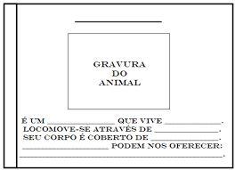 Resultado de imagem para atividades de portugues ficha tecnica de jacaré