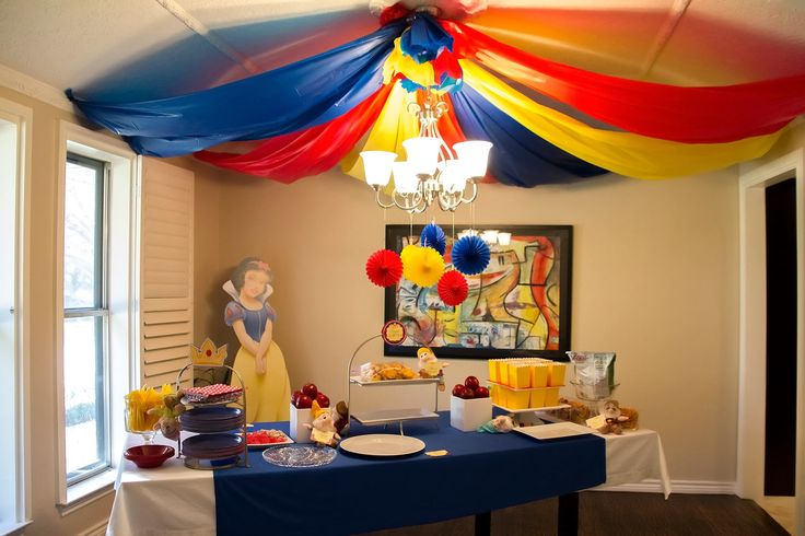 Snow White themed first birthday party