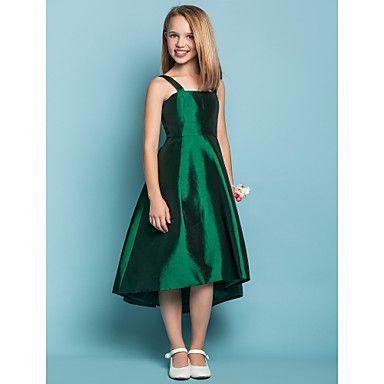 A-line Straps Square Taffeta Junior Bridesmaid Dress (551561) – USD $ 59.49