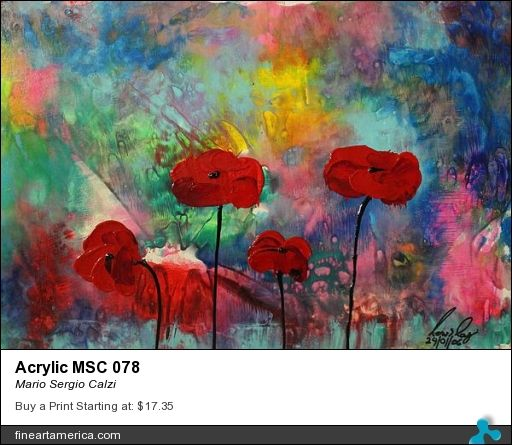 """Review for my painting """"Acrylic MSC 078"""" by Rebecca Anne Dufresne."""