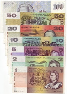 Aussie paper money. Remember the smell?