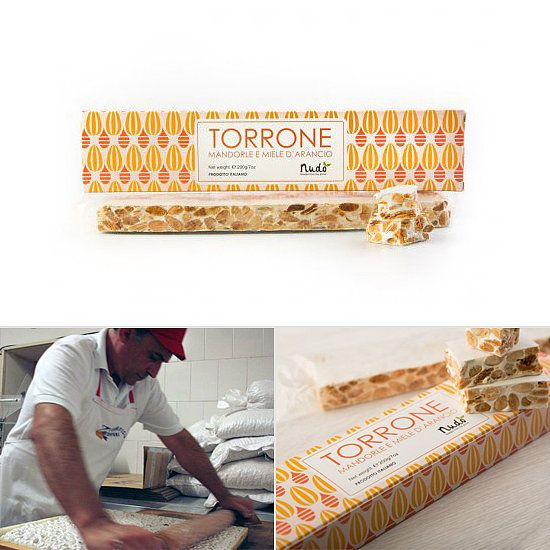 Nudo's Orange Honey and Almond Torrone: This Christmas, it's all about the torrone, the Italian treat that consists of sweet and chewy white nougat studded with nuts. I can't stop with Nudo's orange honey and almond torrone ($15); it's made with organic almonds and orange blossom honey that come from the same grove, and only one man, Zio Giuseppe, is trusted to roll out the family recipe. You can taste the difference.  — Susannah Chen, editor