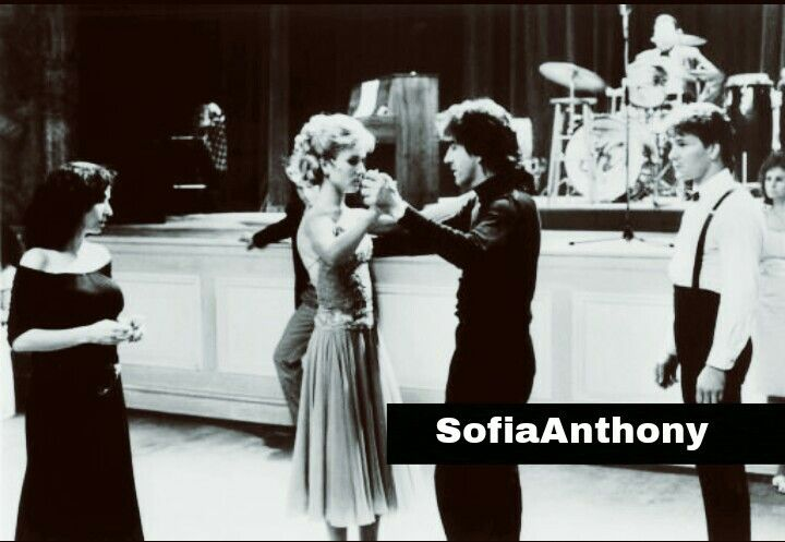 Cynthia Rhodes, Kenny Ortega and Patrick Swayze on the set Dirty Dancing
