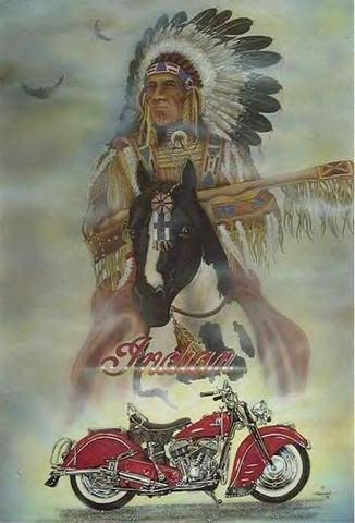 Indian Chief in red