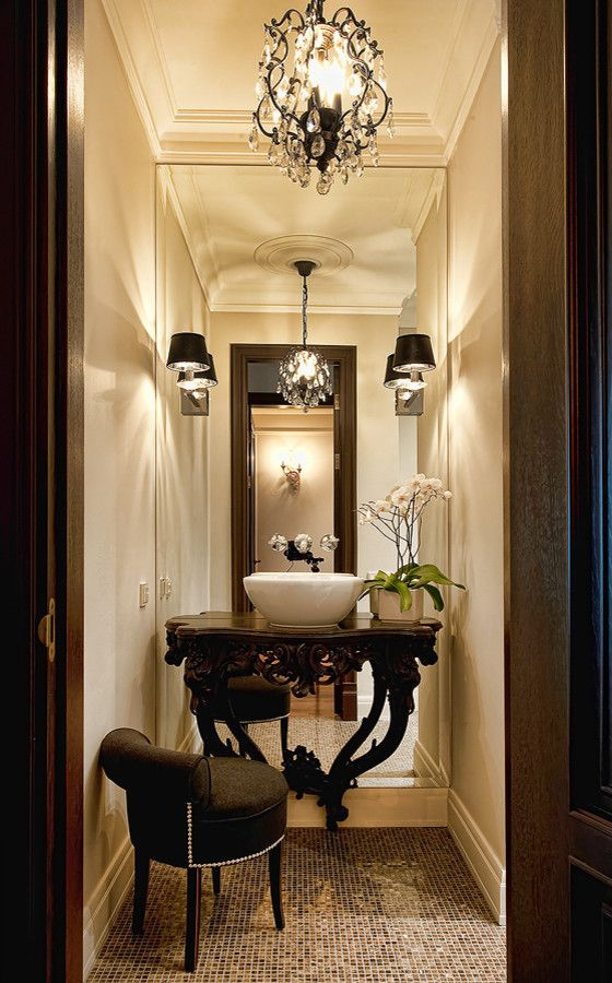 1000 ideas about powder room mirrors on pinterest bath. Black Bedroom Furniture Sets. Home Design Ideas