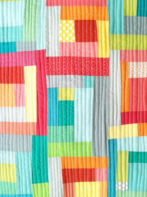 batixa: Quilts Inspiration, Quilts Modern, Straight Line Quilts, Colors Quilts, Bright Quilts, Logs Cabins, Fresh Lemon, Improvement Quilts, Modern Quilts