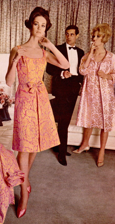 Vintage dresses 1960s cocktail fashion