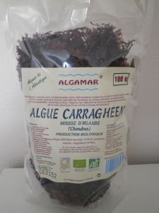 "Algue Carragheen ou ""Mousse irlandaise"" bio - sachet de 100 g"