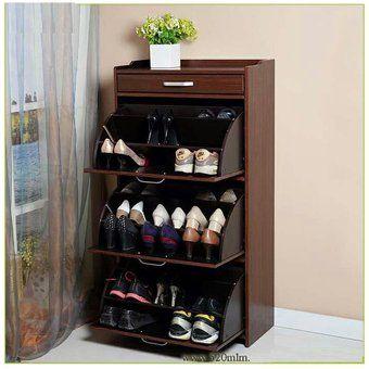 Mueble Zapatero El Container 100% Madera para 27 Pares de Zapatos