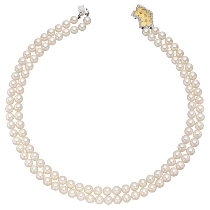 14-karat Gold, Diamond And Pearl Necklace - one size Mateo Bijoux
