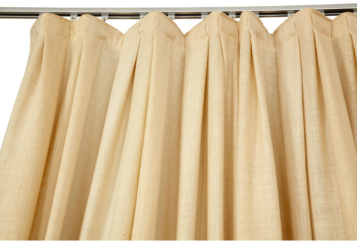 Beautiful top detail and falls in a nice pattern Billy Cotton - Heavy Linen Curtain
