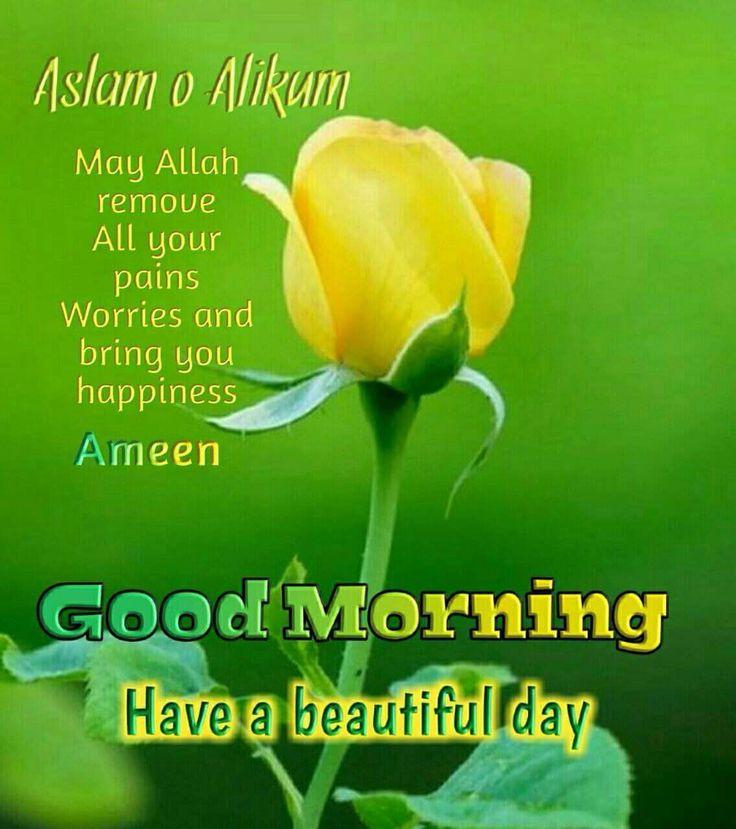 Image for Assalamualaikum Good Morning Green photo | Jumah