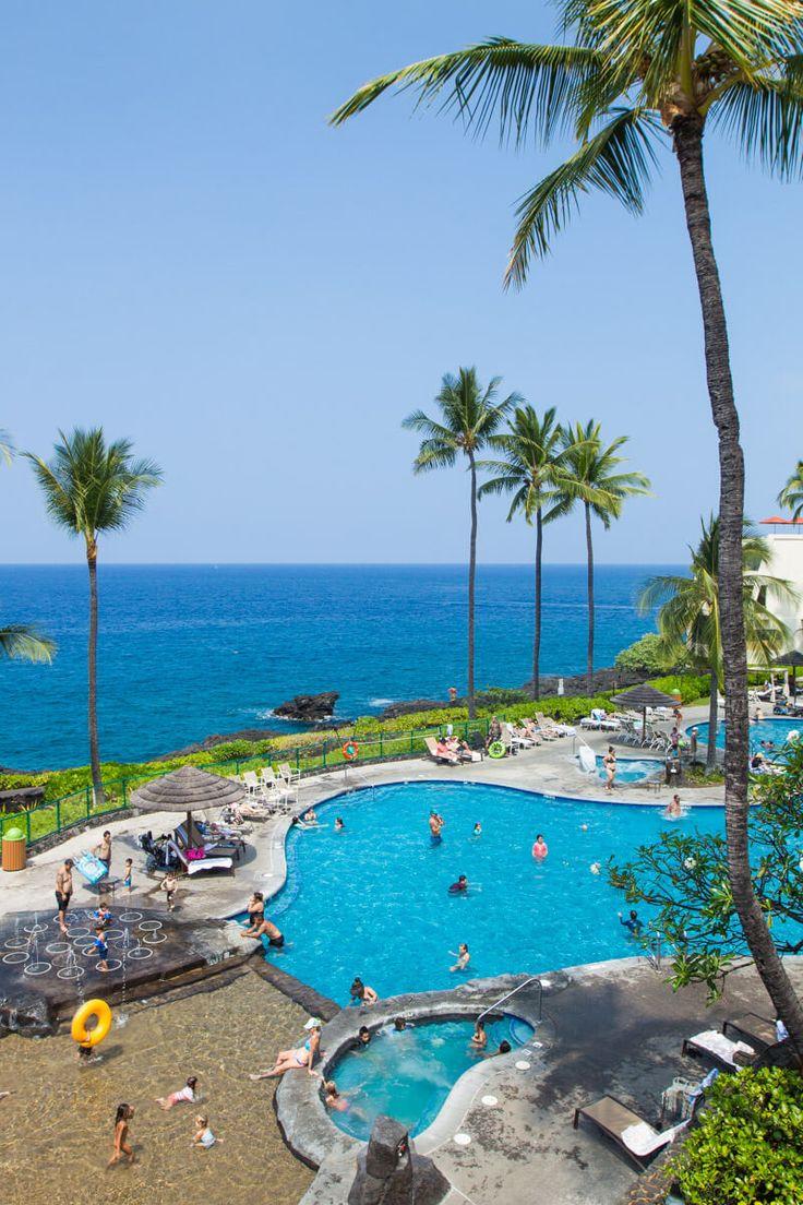 Pool At Sheraton Kona Overlooking Keauhou Bay Island Hawaii