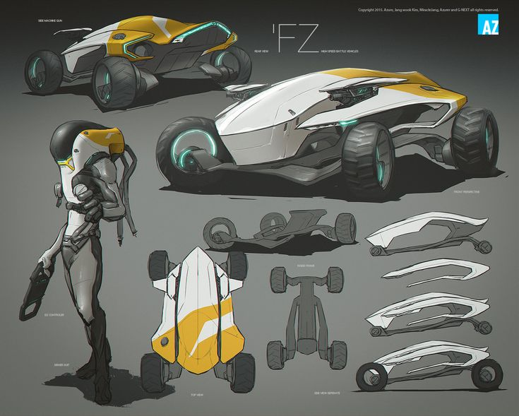 Some Of The Battle Vehicles Concept Art For Future Vehicle Sports Sketch Renewal And Color Correction Artworks Archive