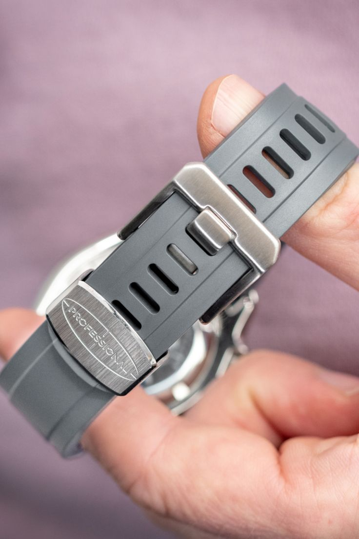 CRAFTER BLUE Rubber Watch Strap for Seiko SKX Series