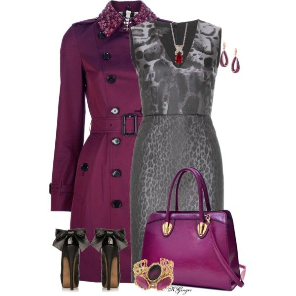 A fashion look from February 2015 featuring Giambattista Valli dresses, Burberry coats and R.H. Macy's & Co. earrings. Browse and shop related looks.