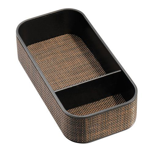 InterDesign Twillo 2Section Stacking Divided Tray Bronze    You Can Get  More Details By Clicking. Bathroom TraysDecorative ...