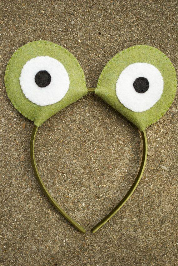 Wool Felt Frog/Toad Eyes Headband by TheThreadHouse on Etsy