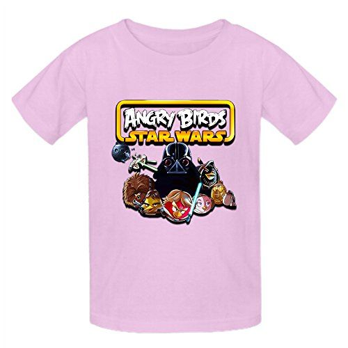 TooWest Angry Birds Star Wars Design Boys and Girls Crew Neck T shirt Pink -- More info could be found at the image url.