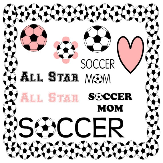 Girls Soccer Digital Scrapbooking Papers