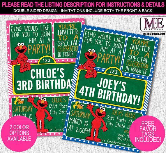 Best 25 Elmo invitations ideas – Buy Birthday Invitations