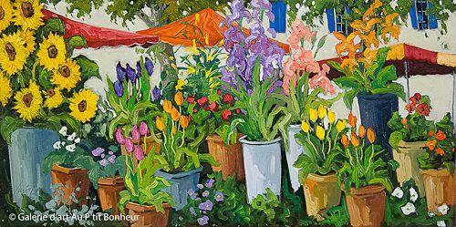 Robert Savignac, 'Journée d'été', 18'' x 36'' | Galerie d'art - Au P'tit Bonheur - Art Gallery