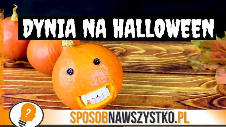 Dynia na Halloween - Zrób to sam #halloween #halloweendecorations