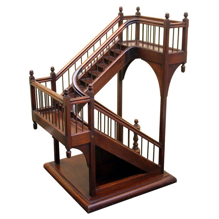 Architect's staircase model | From a unique collection of antique and modern architectural models at http://www.1stdibs.com/furniture/more-furniture-collectibles/architectural-models/