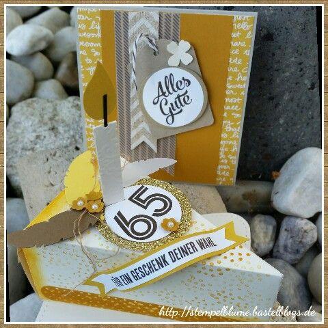 Tortenstück zum Geburtstag, stampinup, Glückwunschkärtchen 10,5×10,5cm