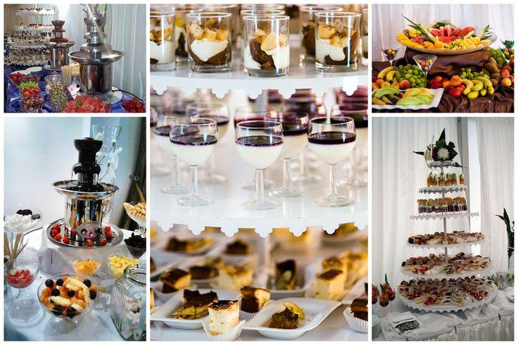 candy bar, deserki, bufety słodkie, fontanna czekoladowa, owoce