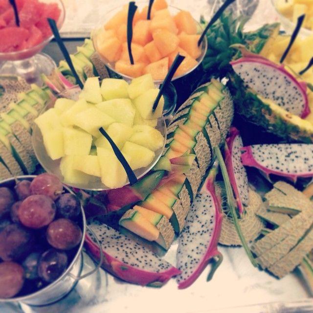 #フルーツブッフェ #スィーツブッフェ #ドラゴンフルーツ#FRUIT#メロン#ぶどう#パイナップル #パーティをしましょう! #let!party_on!#PARTYをしましょう!