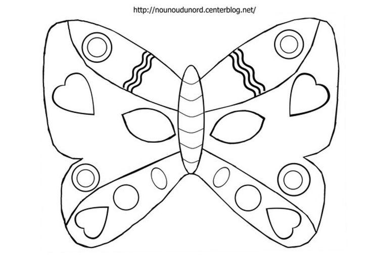 masque papillon d'autres modèles sur mon blog  http://nounoudunord.centerblog.net/4209-masques-a-imprimer-classes-par-ordre-alphabetique