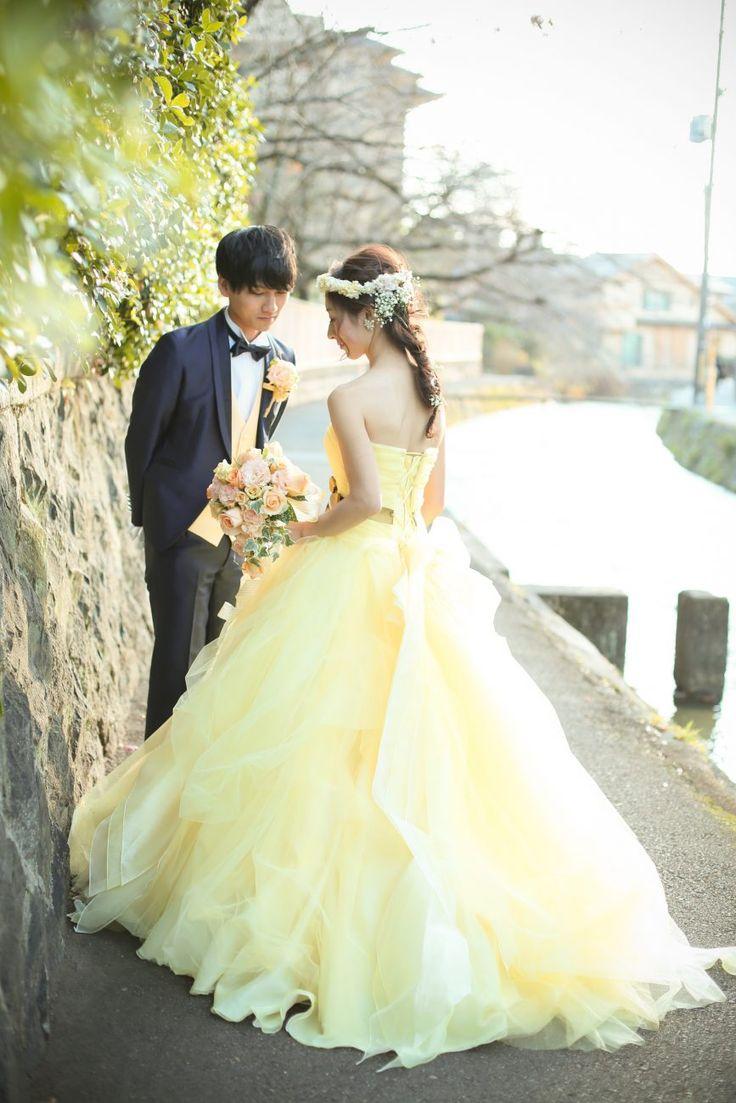 Photography: The Earth Production  #六絲水ロクシスイ #結婚式 #ウエディング #ウエディングドレス #カラードレス