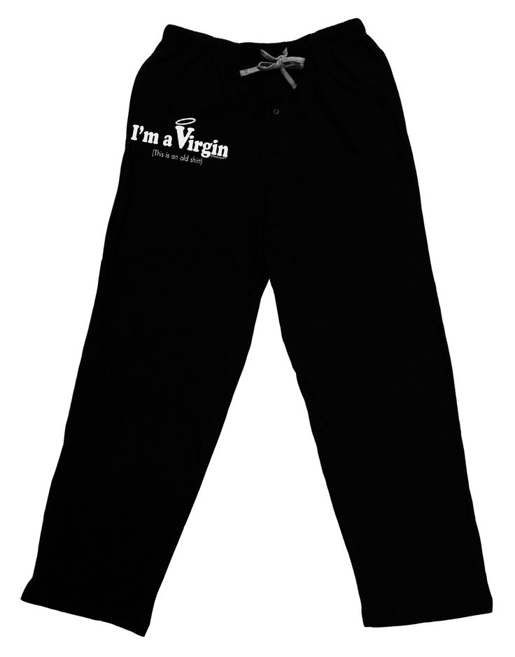 I'm a Virgin - Humor Adult Lounge Pants - Black by TooLoud