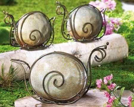 Фигурки из проволоки для сада