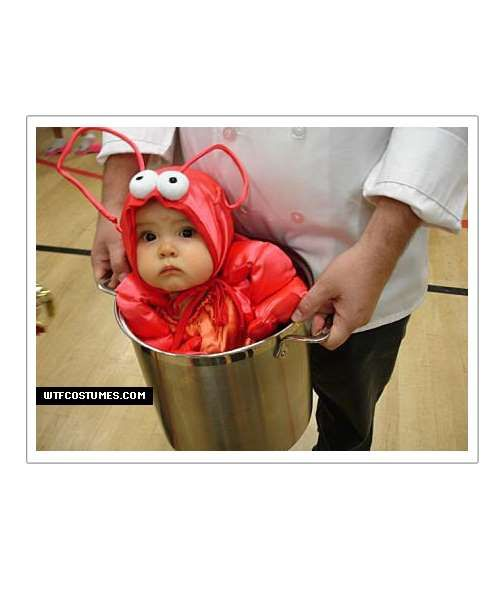 We all love a good baby lobster in a pot. Ready to boil!Share this on Facebook?via WTFCostumes - Mom.me